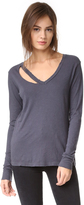 LnA Long Sleeve Fallon V Neck