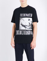 McQ by Alexander McQueen Gothic-print cotton-jersey t-shirt