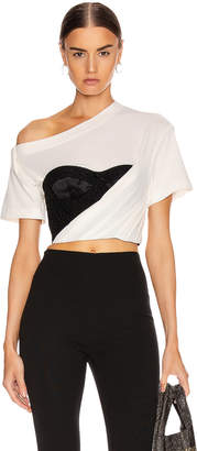 Alexander Wang Draped Bustier T Shirt in Soft White | FWRD