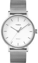 Timex Fairfield 41mm Silver/Silver Mesh Watch