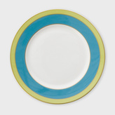 Paul Smith For Thomas Goode - Teal And Lime Green 9 Inch Bone-China Starter Plate