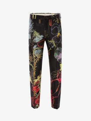 Alexander McQueen Deconstructed Floral Pants