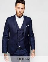 Heart & Dagger Suit Jacket In Birdseye Fabric In Super Skinny Fit