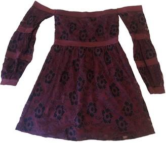 For Love & Lemons Burgundy Polyester Dresses