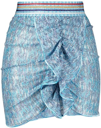 Missoni Mare Ruffle Detail Mini Skirt
