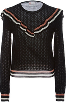 RED Valentino Ruffle Eyelet Sweater