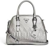 GUESS Eddie Quilted Dome Satchel