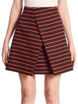Proenza Schouler Striped Wrap Skirt