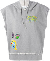 Mira Mikati sleeveless patch detail hoodie - women - Cotton - 38