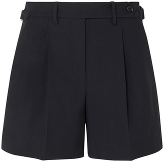 RED Valentino Pleated Gabardine Shorts