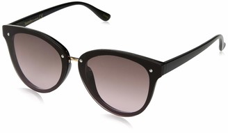 Laundry by Design Women's Ld276 Ox Non-Polarized Iridium Round Sunglasses