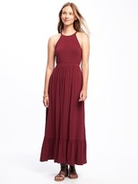 Old Navy High-Neck Ruffle-Hem Maxi Dress for Women