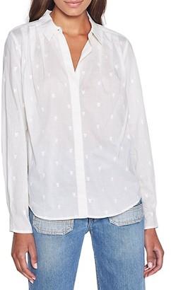 Joie Fischer Embroidered Cotton Shirt
