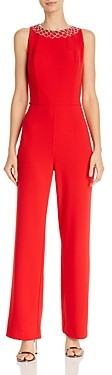 Laundry by Shelli Segal Rhinestone Embellished Stretch-Crepe Jumpsuit - 100% Exclusive