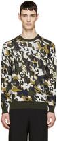 Alexander McQueen Green & Cream Skull Camouflage Pullover