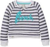 Bench Girl's Stripey Logo Crew Sweatshirt