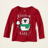 Children's Place Christmas penguin graphic tee