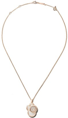 Chopard 18kt rose gold Happy Dreams mother-of-pearl and diamond pendant necklace