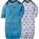 Gerber Unisex Baby 2 Pack Gown (0-6 Months