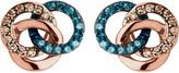 Links of London Treasured 18ct rose-gold vermeil and diamond stud earrings