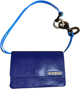 Jacquemus Le Riviera Blue Leather Clutch bags