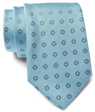 Calvin Klein Cross Medallion Silk Tie