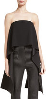 SOLACE London Pippin Strapless Crepe Top, Black