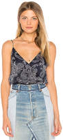 The Jetset Diaries Wrap Front Bodysuit in Navy. - size L (also in M,S,XS)