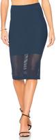 BCBGeneration Mesh Panel Skirt