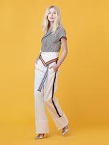 Diane von Furstenberg Wide Leg Ribbon Pant