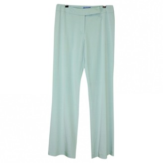 Thierry Mugler Blue Silk Trousers
