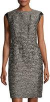 Lafayette 148 New York Cosette Tweed Sheath Dress, Lead Multi