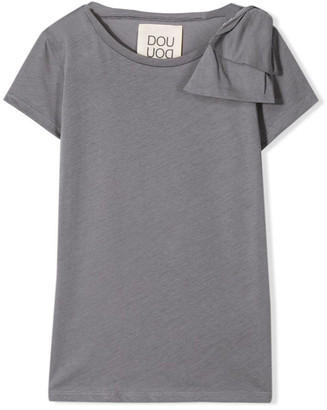 Douuod Grey Cotton T-shirt
