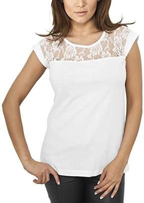 Urban Classics Women's Ladies Top Laces Tee T-Shirt,XL