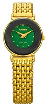 Jowissa Women's J3.032.S Elegance 24 mm Gold PVD Green Dial Steel Watch