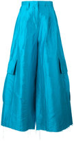 Marques Almeida Marques'almeida - super flared trousers - women - Silk - 8