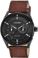 Citizen CTO Dial Men's Brown Leather Watch BU4025-08E