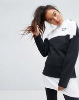 Reebok Classics Lost & Found High Neck Sweatshirt In Black