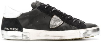 Philippe Model Paris distressed low-top trainers