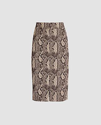 Ann Taylor Petite Snake Print High Waist Pencil Skirt