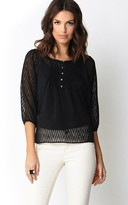 Forever 21 Zigzag Chiffon Top