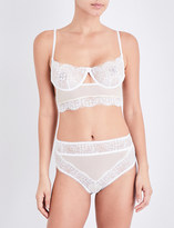 For Love And Lemons Skivvies Daffodil underwired lace bra