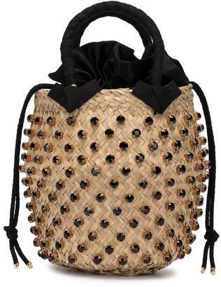 Le Nine Crystal Embellished Bucket Bag
