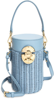 Miu Miu Wicker Canteen Crossbody Bag
