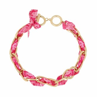 Jessica Simpson Woven Fabric Collar Necklace