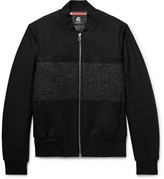 Paul Smith Bouclé-Panelled Wool-Blend Twill Bomber Jacket
