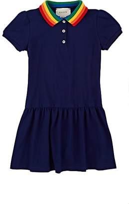 Gucci Kids' Stretch-Cotton Piqué Dress - Blue