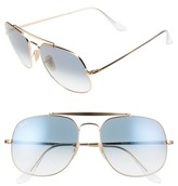 Ray-Ban Men's 57Mm Navigator Sunglasses - Gold/ Blue