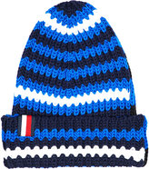 Tommy Hilfiger Hilfiger Editions Striped Knitted Beanie Hat