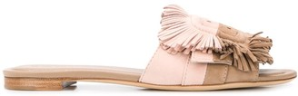 Tod's Two Tone Fringed Sandals
